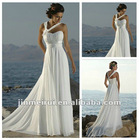Best Selling Read To Ship Sweetheart One-Shoulder Backess Lace Up White Lace Dress