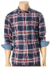 2012men's fitted plaids shirt