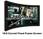 Cinema size 140 inch HD movie projection projector screen manual on sale