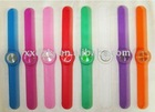 fashionalble silicone rubber snap watch