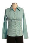 Ladies Cotton/Spandex blouse with satin band