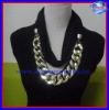 2012 Europe Style new style scarf with silver BIG chain pendant