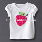 Embroidered baby clothes in white baby shirt kids shirt