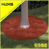 Rubber mulch tree ring mat