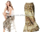 Newest flower printed long cheap maxi skirts