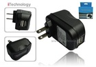2 ports USB travel charger, 2.1A AC charger