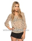 Nice ladies chiffon blouse long sleeve spot design