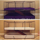 Metal grids rabbit cage with ramp