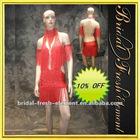 Sexy Beaded Ballroom Latin Dance Dress