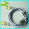 Transparent HDMI cables am to am input with golden plug