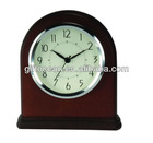 sweep analog hotel clock, solid wood hotel clock