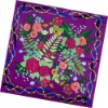 Lastest Colorful Print 100% Natural square silk scarf