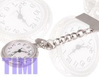 Beautiful silver-tone nurses brooch Pocket watch quartz