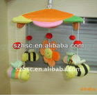 soft hanging toy baby crib hanging bee toy