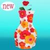 plastic bag flower vase