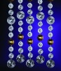 shining crystal bead curtain for home decoration