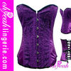 Sexy satin overbust corset high quality 2012