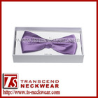 100% Silk Men's Fashion Lilac Bow Tie suitable for wedding and party