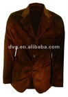 brown corduroy men suit