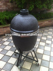 Kamado Ceramic Charcoal BBQ Grill for Outdoor