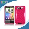 Hot Pink TPU Rubber Case Protector for HTC Inspire 4G(IMC-TOHTC-0307)