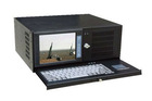 """4U Rackmount 8"""" LCD industrial workstation with touch screen IEC-808E"""