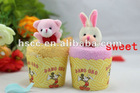 2012 Good quality cotton wedding/brithday door gift small towel cakes