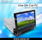 1DIN 7inch brand new motorized-panel and full touch panel car PC with WinXP, wifi, 3G, GPS, Bluetooth, FM/AM/ USB/SD