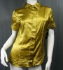short sleeve satin neck design of blouse