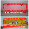 Led license plate lighting frame