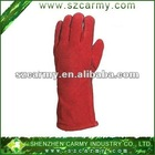 Five Fingers Cow Leather Welding Use Heat Resistance Protection Safety Gloves
