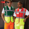 colorful hi-vis waistcoat with 3M reflective tape