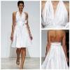 MB2017 Concise Ruffle Halter Sash Boweknot Sleeveless White Western Halter Neck Backless Dresses