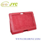 Fashionable Stand Leather case for ASUS TF700 red