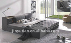Modern king size fabric bed