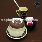 Cappucino cake towel (CT-004) 100%cotton