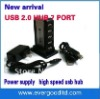 NEW HUB 7-port USB extender power splitters 7 Port USB 2.0 Hub - Support 480 Mps High speed USB Free AC Adapter