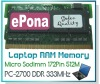 DDR333 512MB Mini Laptop RAM Memory