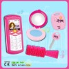powder box, alarm,comb plastic toy mobile phone