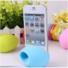 Silicone stand phone speaker for iphone4 4s
