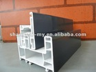 pvc sliding door profile with powder coating finish