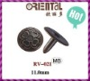 brass cap rivet RV-021 with flower pattern 11mm for fashion garments
