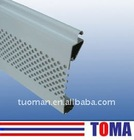 77mm aluminium single layer slat for roller shutter