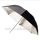 40 inch Photography folded silver reflective studio umbrella black