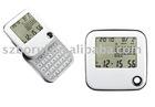 180 degree rotation alarm clock with calculator