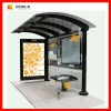 modern stainless steel bus shelter outdoor