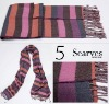 Acrylic knitted scarf with jacquard,new design of knitted scarf(2010),ladies' fashion winter scarf