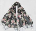 Fashion viscose scarf,soft printed hijab shawl,muslim wrap