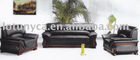 LYS-2003 genuine Leather office sofa meeting sofa set