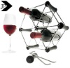 High Quality Wine Stand /Hexagon Wine Stand /Stainless Steel and Wood Wine Stand
